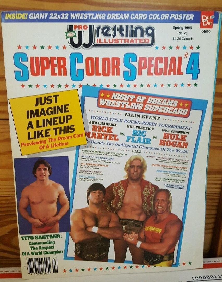 1985 1987 Pro Wrestling Illustrated Super Color Specials Magazines Pro Wrestling Only